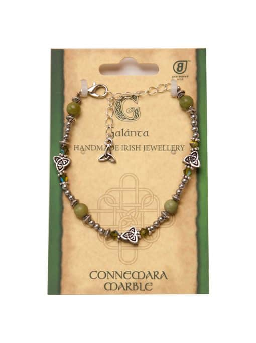 Small triskle & Connemara bracelet (Handmade In Ireland)