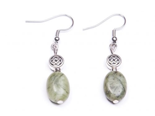 Oval Connemara Celtic knot earrings (Handmade In Ireland)