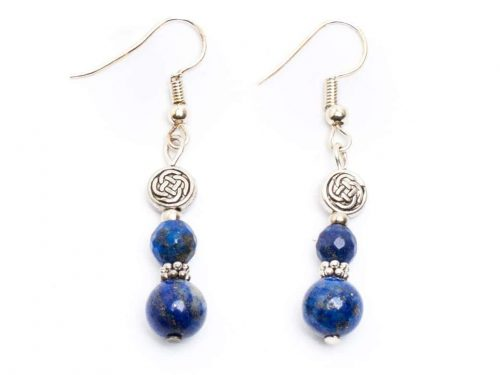 Lapis Celtic knot Earrings