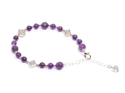 Round Faceted Amethyst Bracelet