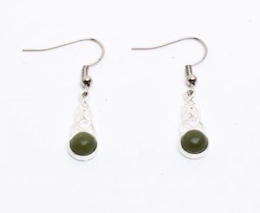 Oval connemara 6mm earrings
